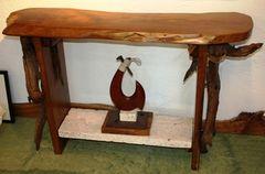Land N' Sea Wood Slab Console Table