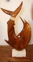 Keys Blue Marlin Fish Hook Sculpture