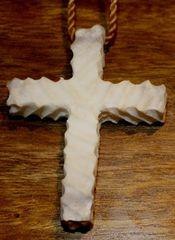 Cross Moose Antler Necklace 1
