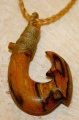 Jamaican Dogwood Fish Hook Necklace Double Barb d