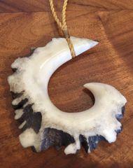 Island Fish Hook Necklace Moose Antler Rosette Shed 2