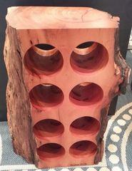 Keys Mahogany Slab Aged Wood Wine Rack