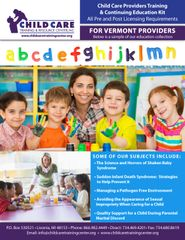 Pre and Post Licensing Requirements - Child Care Providers Training & Continuing Education Kit (Vermont)