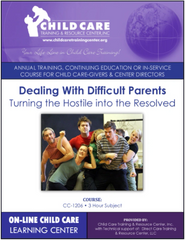 Michigan CEU Course 1206 - Strategies for Dealing with Difficult Parents