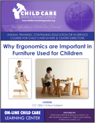 Michigan CEU Course 1205 - Ergonomically Correct Furniture in Child Day Care
