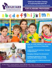 Pre and Post Licensing Requirements - Child Care Providers Training & Continuing Education Kit (Alabama)
