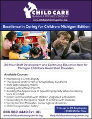Special Product with the 2-Year Extension for Michigan Great Start and Other Child Care Providers