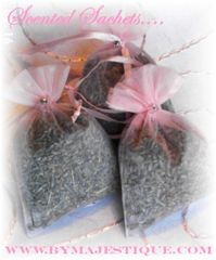 Scented Linen Sachets Favors (Set of 6)