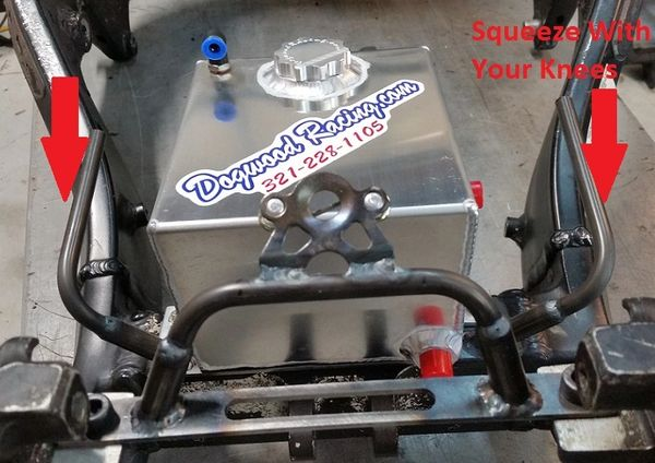 Dogwood Racing Fuel Cell and Shell support for Hayabusa Catalyst Non Cut  Rail Tank Shell