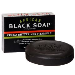 6PACK/AFRICAN BLACK SOAP : COCOA BUTTER WITH VITAMIN E