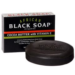 AFRICAN BLACK SOAP : COCOA BUTTER WITH VITAMIN E
