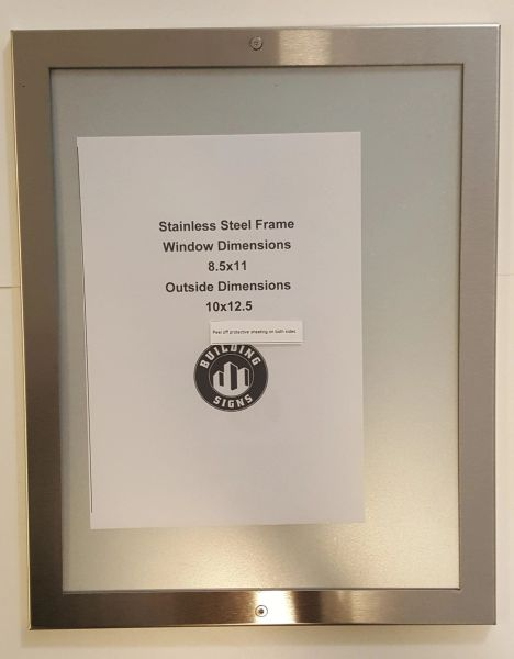 Elevator Notice Frame Stainless Steel Hpd Signs The Official Store