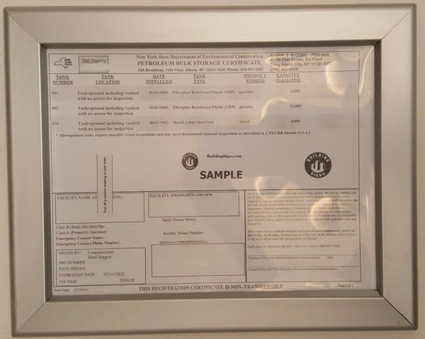 Storage Certificate frame | HPD SIGNS -THE OFFICIAL STORE