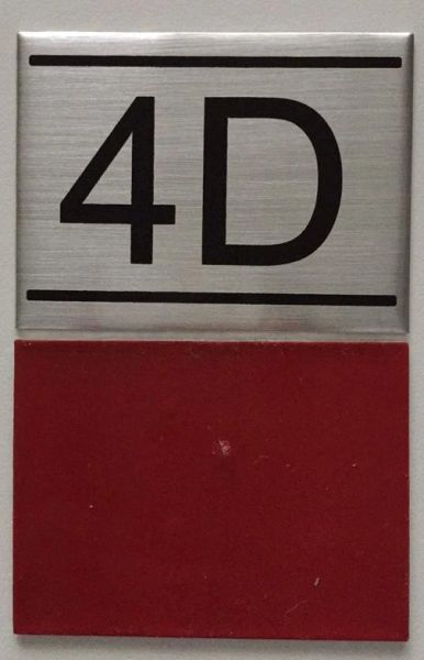 Dob Nyc Apartment Number Sign 4d Brushed Aluminum 2