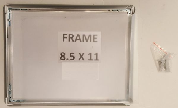 Silver Snap Poster Frame/ Picture Frame / notice frame 8.5 x 11 F ...