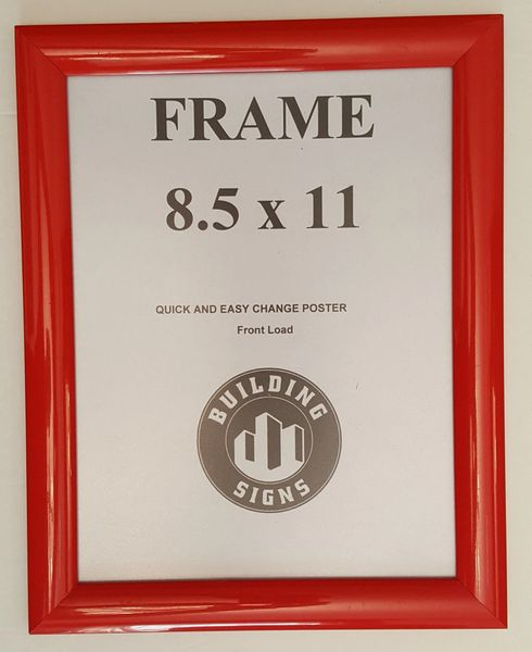 Red Snap Frame 85 X 11 Inches Front Loading Quick Poster Change