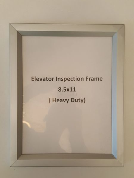 Elevator Inspection frame | HPD SIGNS -THE OFFICIAL STORE