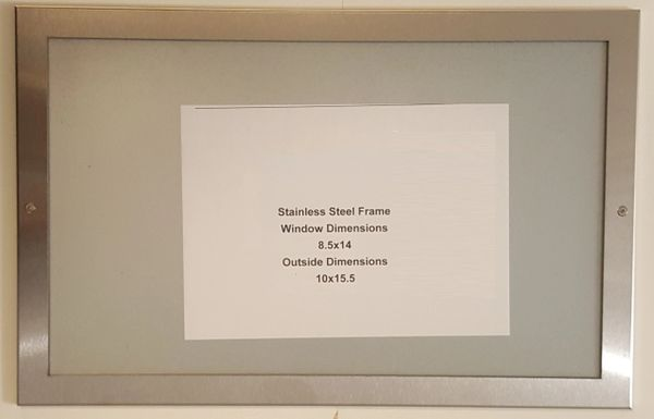 nyc elevator certificate frame stainless steel 8 5 39 39 x 14 39 39 hpd signs the official store. Black Bedroom Furniture Sets. Home Design Ideas