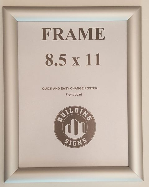 Silver Metal Snap Frame 85x11 Inches Front Loading Quick Poster