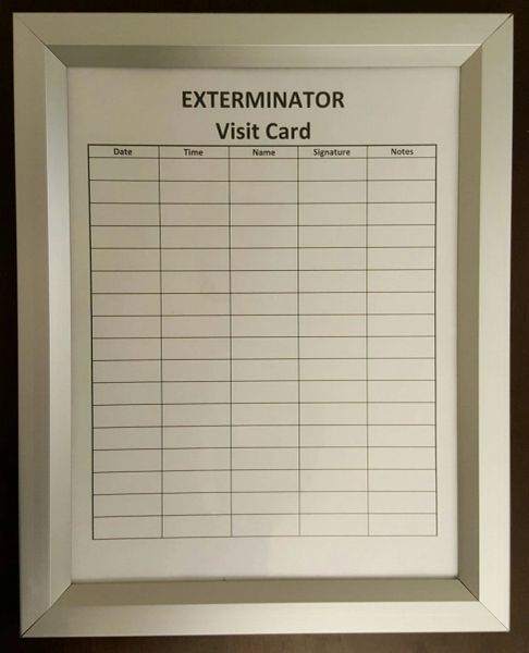 Exterminator Frame Exterminator Inspection Frame Hpd Signs The