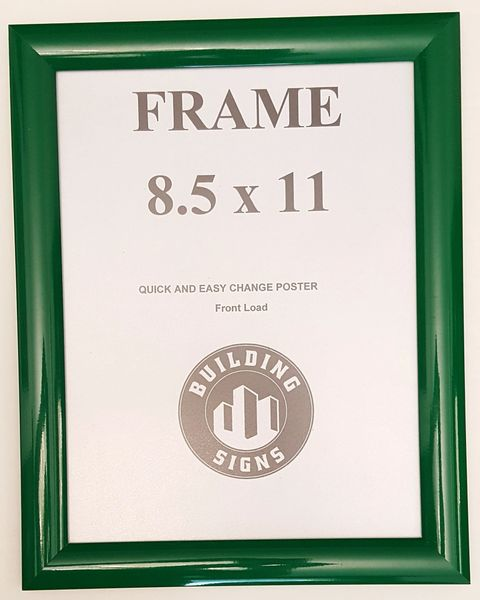 Green Snap Frame 8.5x11 Inches Front Loading Quick Poster Change ...