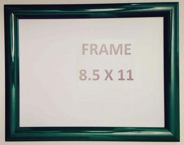 Green Snap Poster Frame/ Picture Frame / notice frame 8.5 x 11 Fr ...