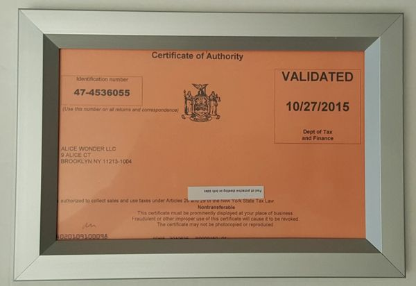 Certificate Of Authority Frame Heavy Duty Frame Ideal For