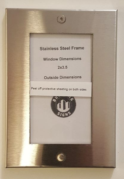 Nyc Elevator Certificate Frame Stainless Steel 2 X 3 5
