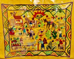 Hand Embroidered Scene
