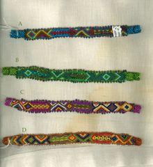Crochet and Bead Bracelets - Neon Narrow
