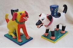 Dog Pals Candlesticks