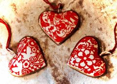 Metal Valentine Heart Ornaments