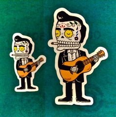 Johnny Cash Calaveras Sticker - Large