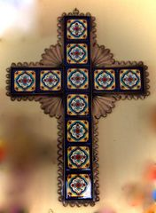 Talavera Tile Cross