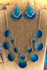 Ocean Blue Capiz Necklace
