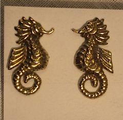 Brass Seahorse Posts