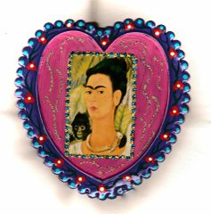 Frida Kahlo Tin Heart