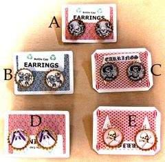 Calaveras Bottle Cap Earrings