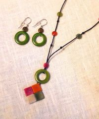 Tagua Necklace - Meadow
