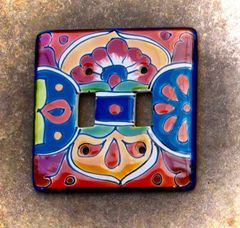 Talavera Switch Plate - double