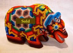 Huichol beaded bear