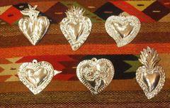 Natural Tin Hearts