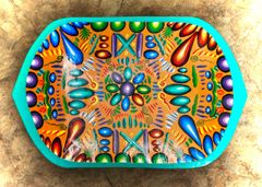 Wooden Decorative Plate from Tigua