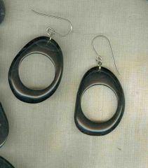Tagua Earrings - Large Loop
