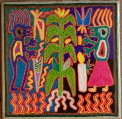 Small Huichol Painting