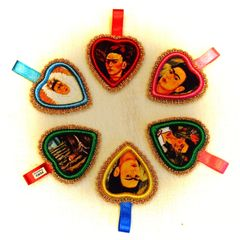 Frida Heart Ornaments