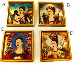 Frida Kahlo Glass Coasters