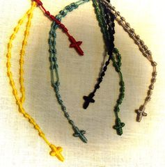 Knotted Cord Rosaries