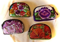Small Embroidered Padded Bags - Floral Theme