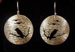 Bird Scene Earrings